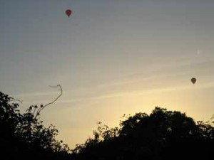 Hot air balloons over the allotments are a frequent sight on mild summer evenings.